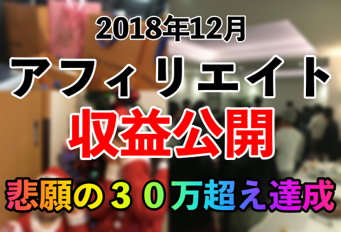 【12月の収益公開】目標だった30万円突破しました!