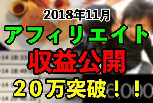 【11月収益公開】惜しくも30万届かずも、20万突破!